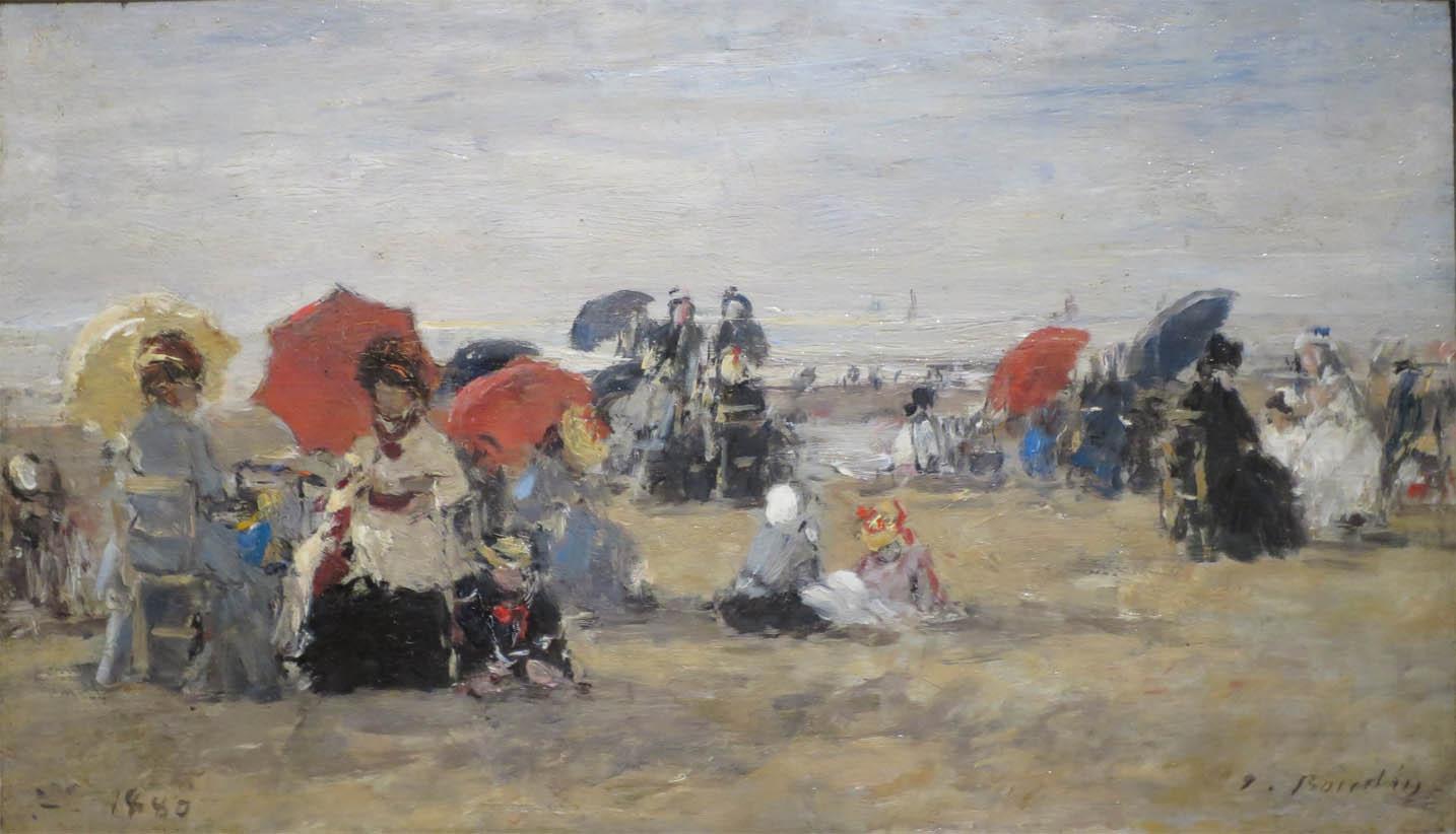 La Plage à Trouville (1880)