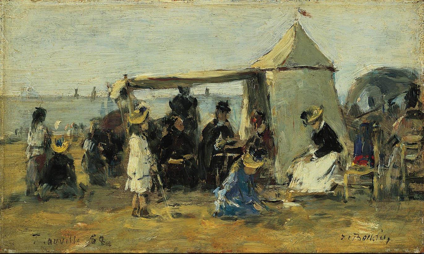 La Plage à Trouville (1888)