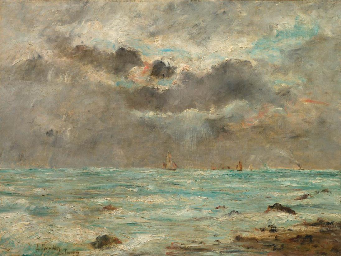 La côte à Trouville (1865-1900)