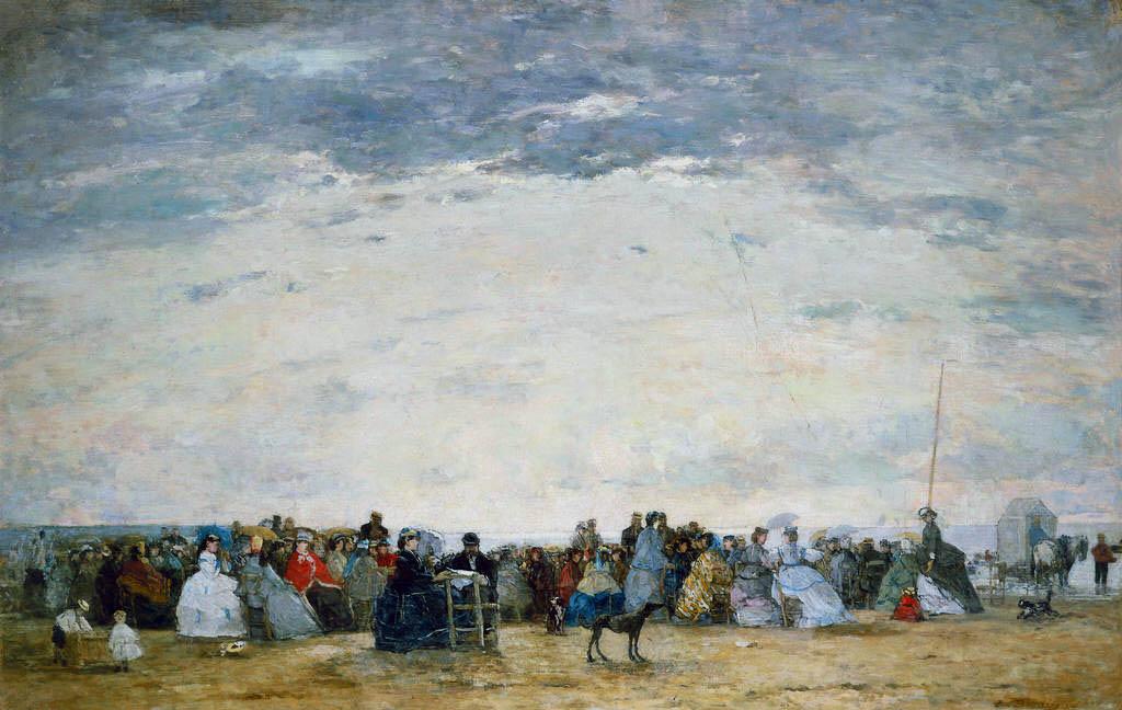 Les vacanciers sur la plage à Trouville (1864)