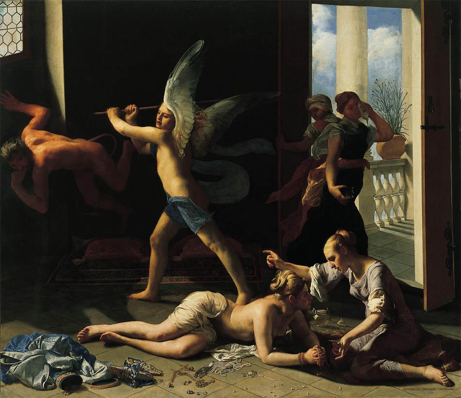 Marta rimprovera Maria per la sua vanità (after 1660)