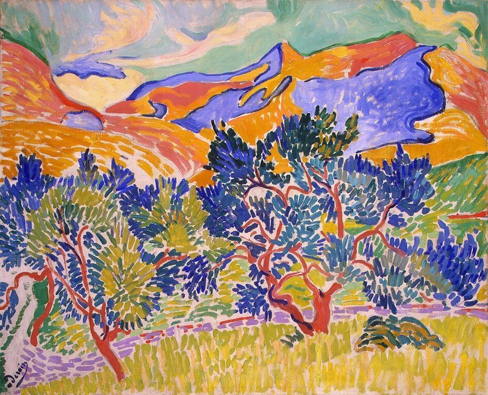 Montagnes à Collioure (1905)
