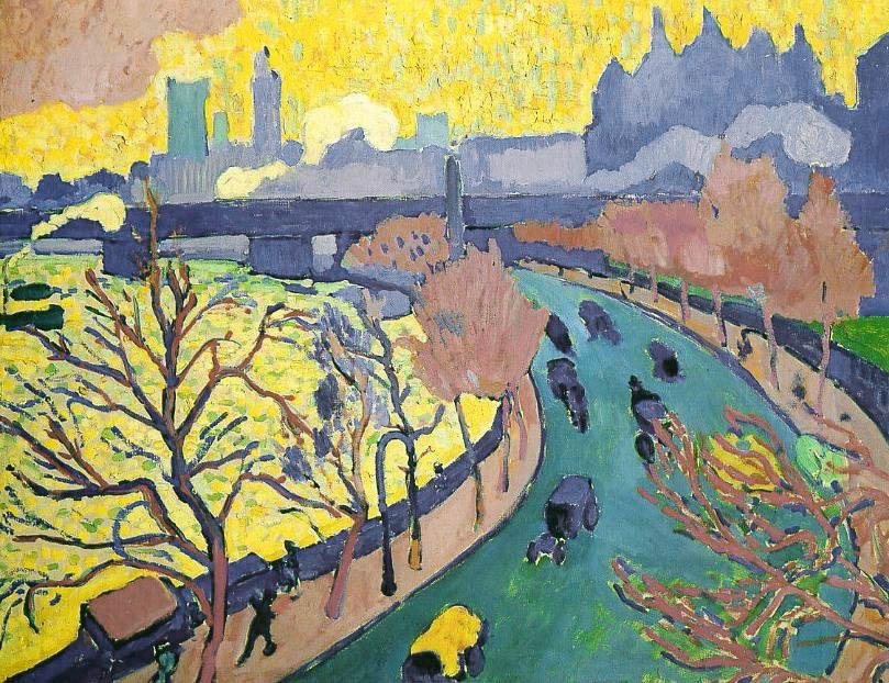 Pont de Charing Cross dit aussi Pont de Westminster (1906)