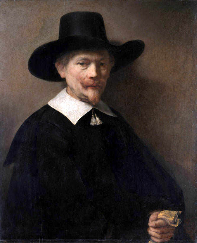 Portrait of a Man Holding Gloves (1648)