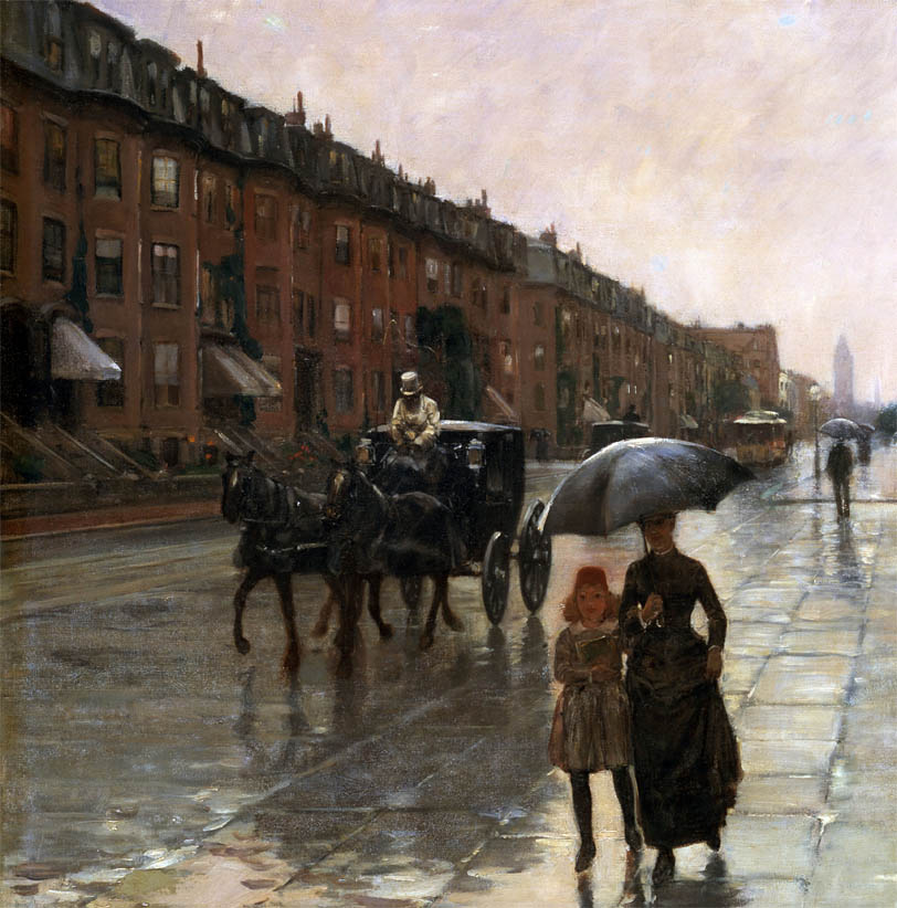 Rainy Day, Boston (1885-d-1)
