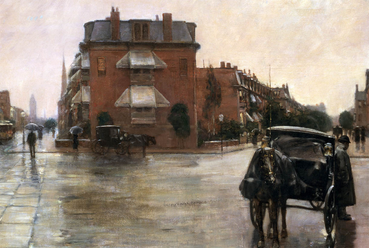 Rainy Day, Boston (1885-d-3)