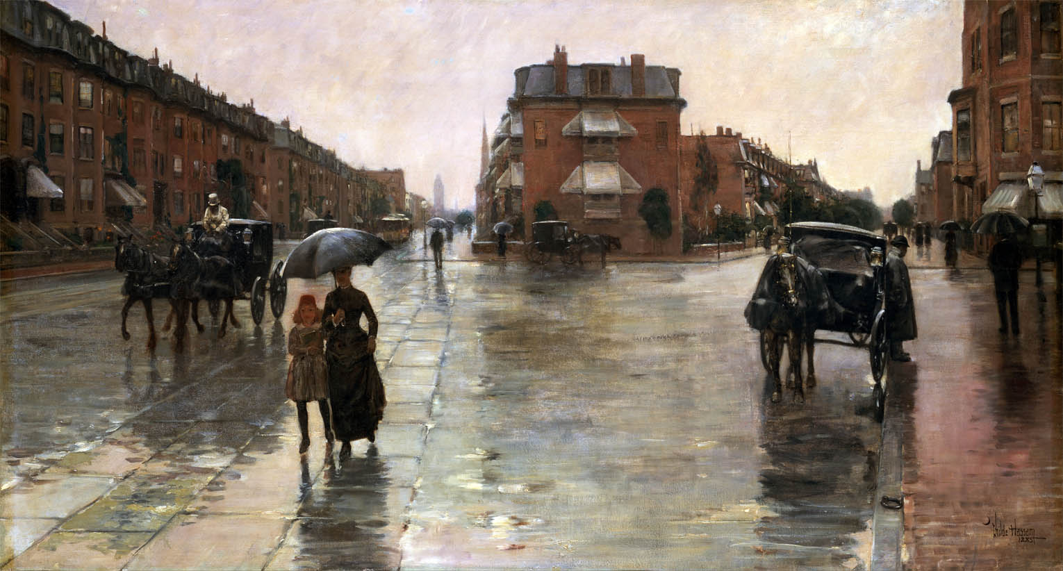 Rainy Day, Boston (1885)