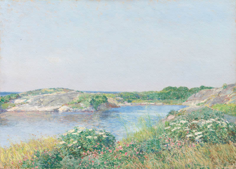 The Little Pond, Appledore (1890)