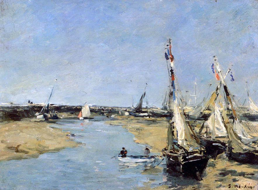 Trouville, la jetée, marée basse (1883-1887)