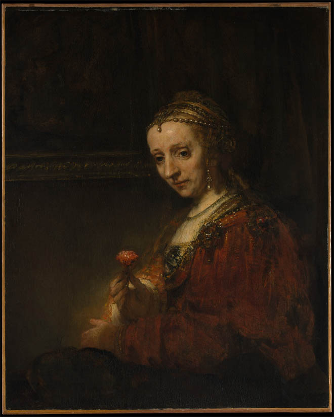 Woman with a Pink (early 1660s)