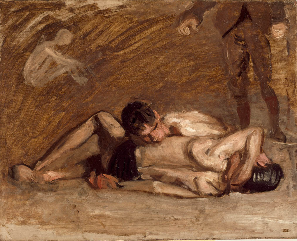 Wrestlers (c 1899)
