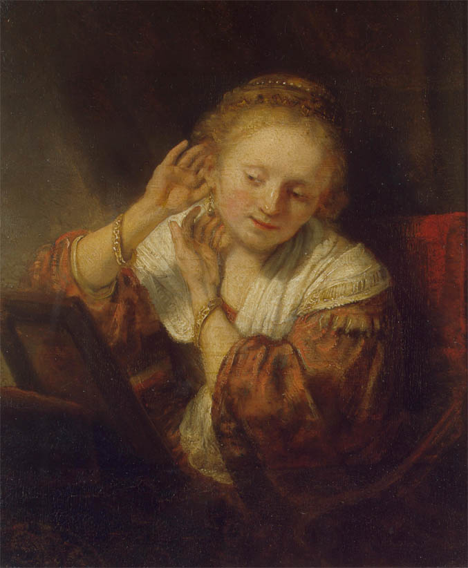Young Woman with Earrings (1657)