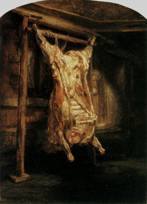 A Slaughtered ox (1655)