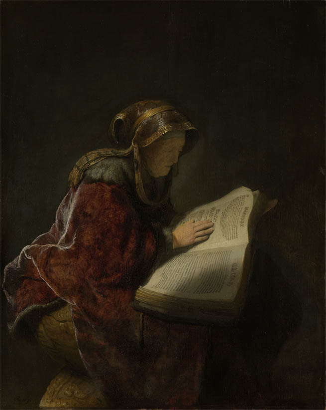 An Old Woman Reading (1631)