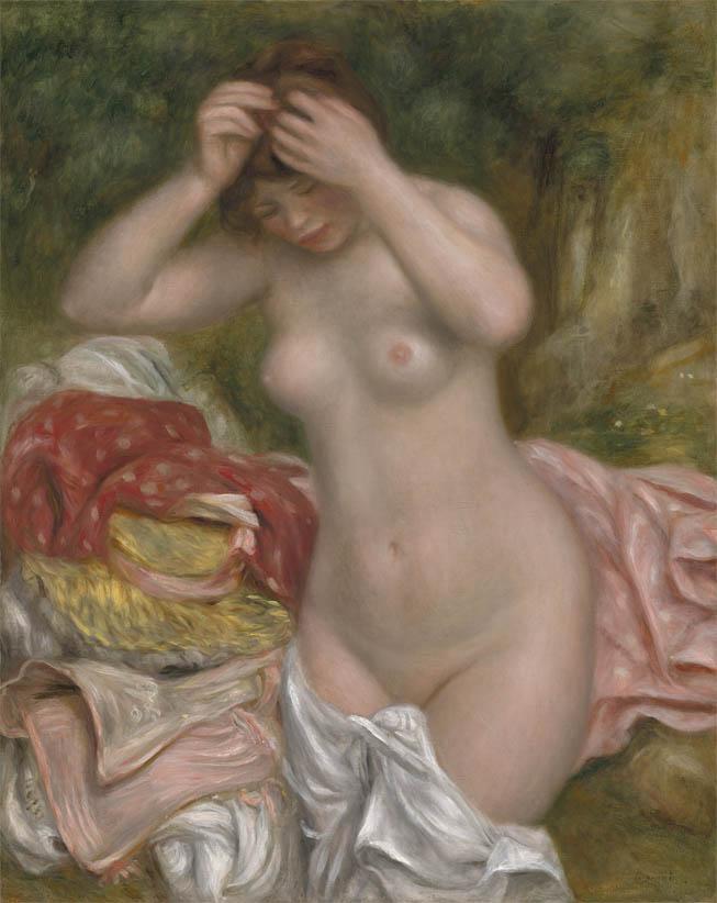 Baigneuse arrangeant ses cheveux (1893)
