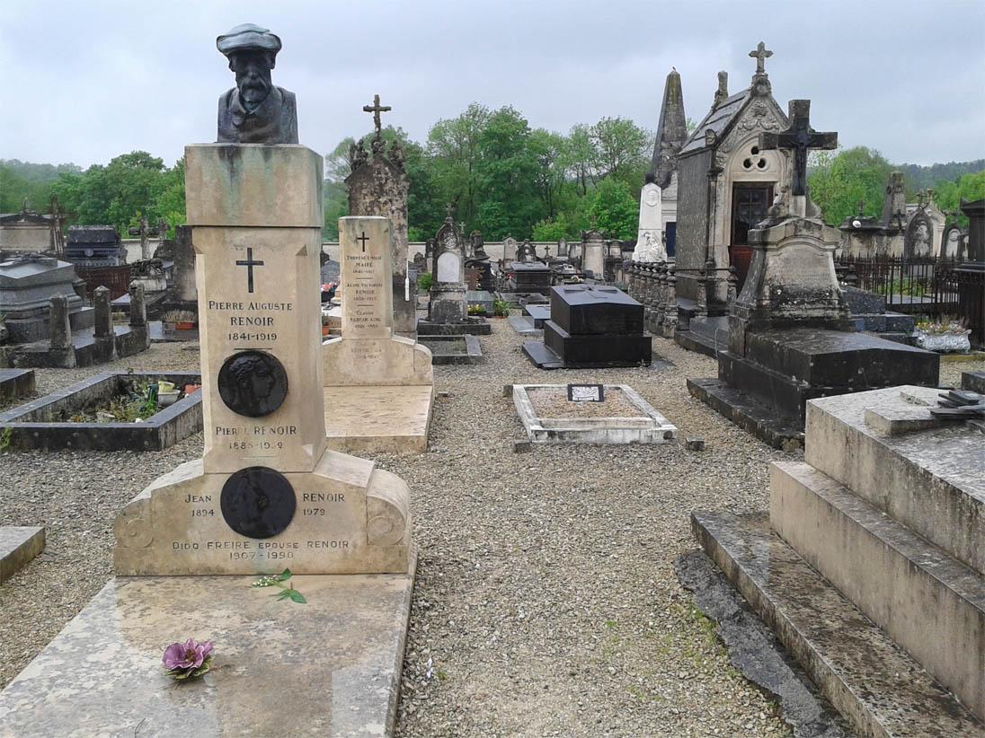 Cimetière d'Essoyes-Tombe de Renoir