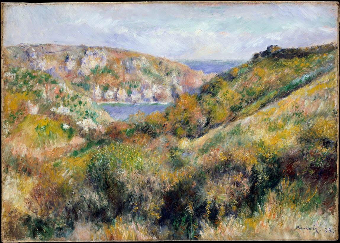 Collines autour de la baie de Moulin Huet, Guernesey (1883)