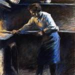 Eugène Murer à son four pâtisserie (1877)
