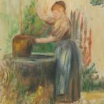 Jeune femme au puits (c 1886)