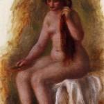 Nu assis se coiffant (Renoir)