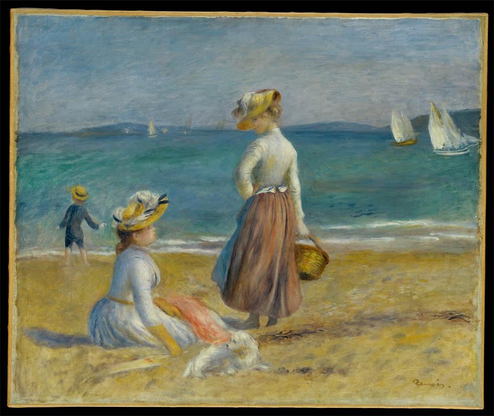 Personnes sur la plage (1890)