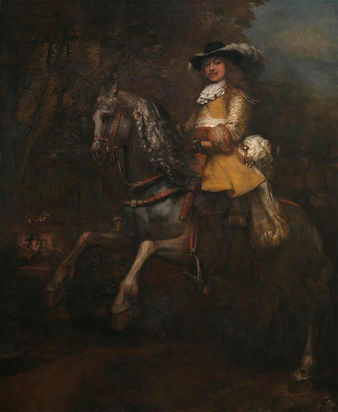 Portrait of Frederick Rihel on Horseback (c 1633)
