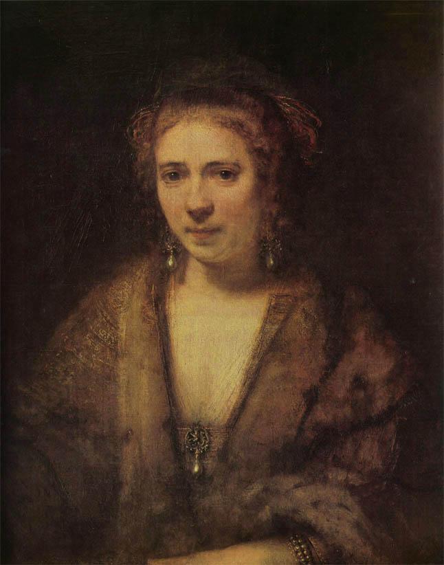 Portrait of Hendrickje Stoffels (1654)