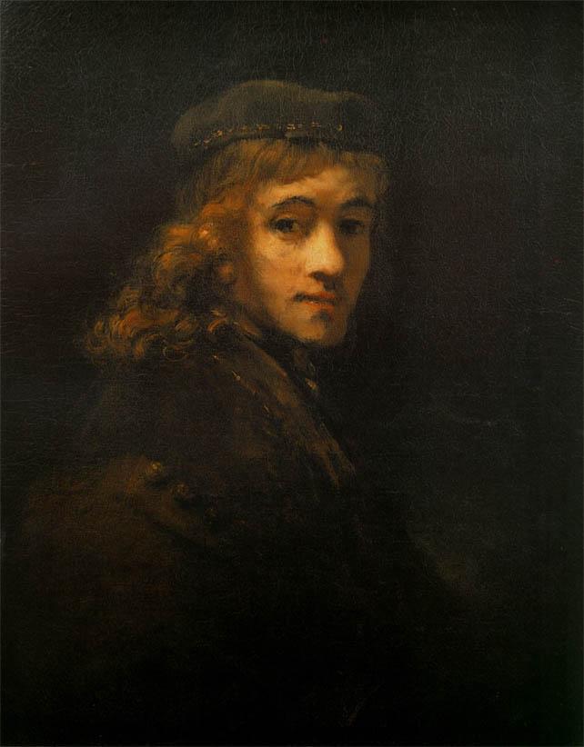 Portrait of Titus van Rijn (1668)