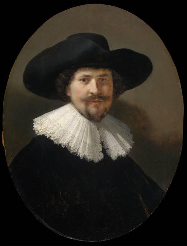Portrait of a Man Wearing a Black Hat (1634)