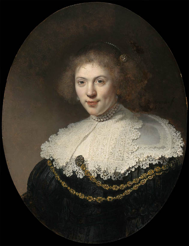Portrait of a Woman Wearing a Gold Chain (1634)