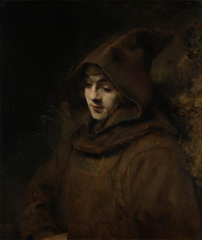 Rembrandt's Son Titus in a Monk's Habit (1660)