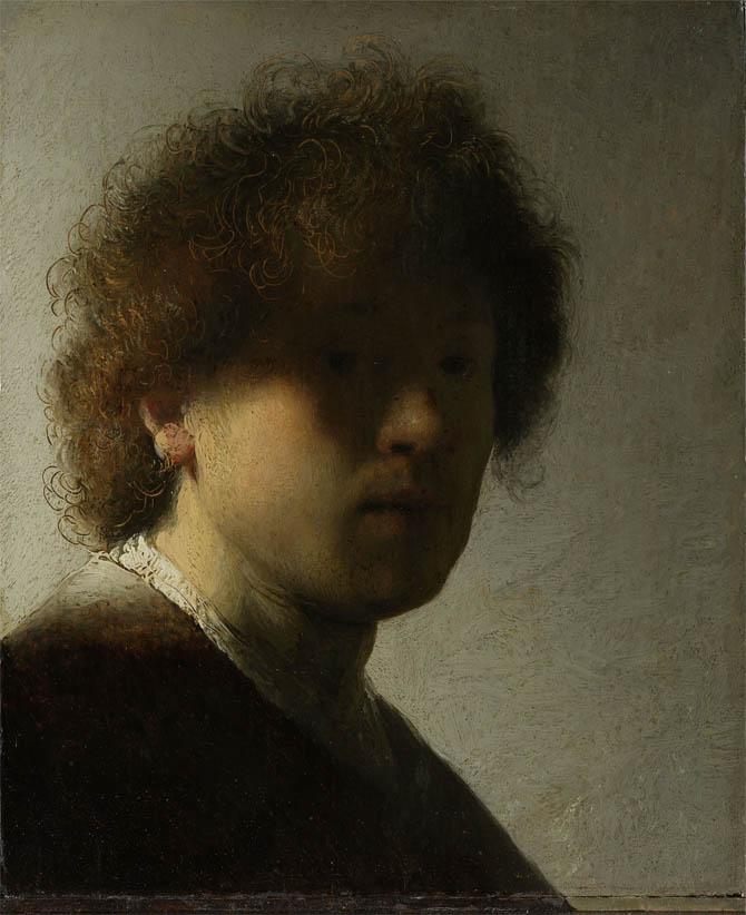 Rembrandt, Self-Portrait (c 1628)