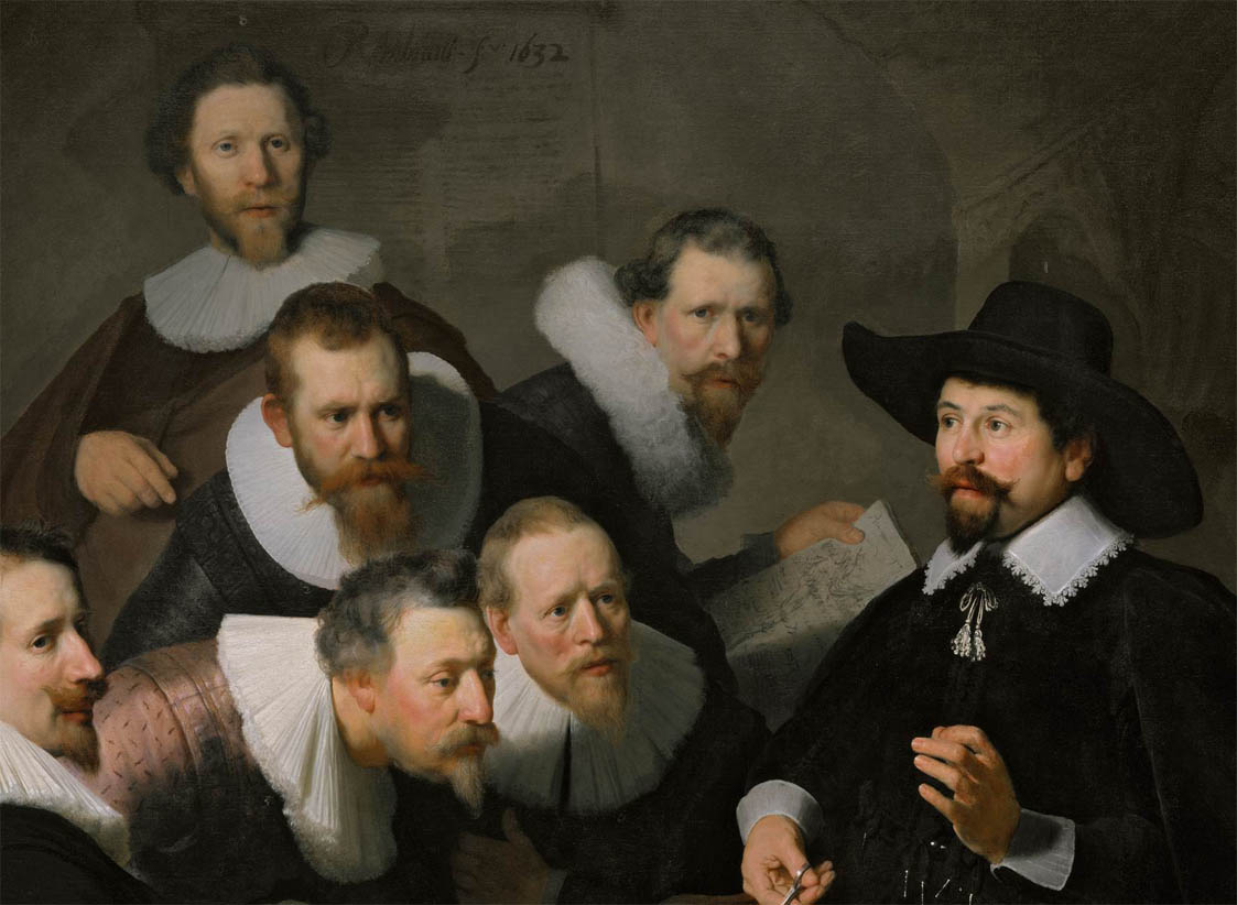 The Anatomy Lesson of Dr Nicolaes Tulp (1632-d-1)