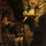 The Angel Raphael Leaving Tobit and his Family (1637)