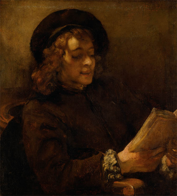 Titus van Rijn, the Artist's Son, Reading (1656-1657)