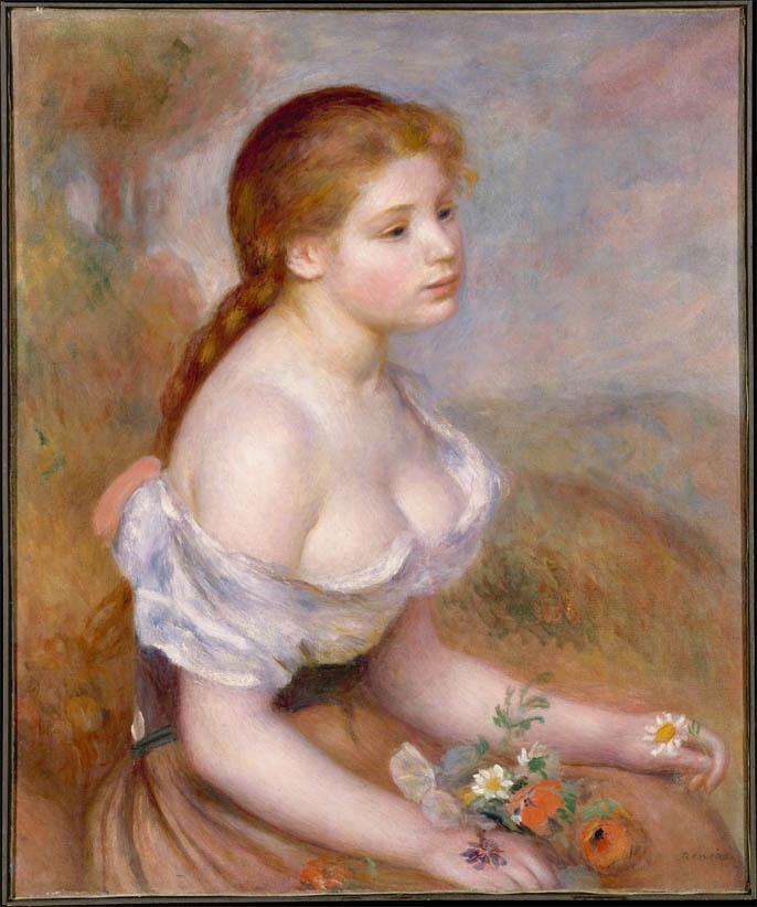 Une jeune fille avec des marguerites (1889)