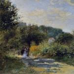 Une route à Louveciennes (c 1870)