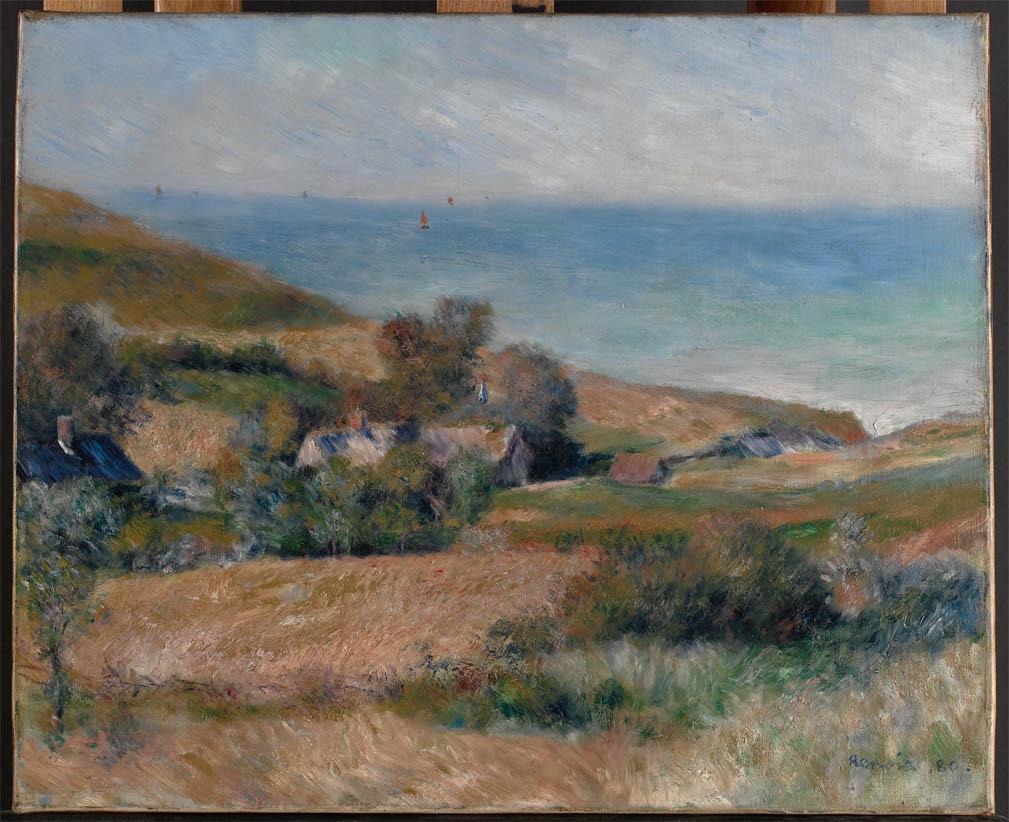 Vue de la côte près de Wargemont en Normandie (1880)