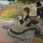 Camille Monet assise sur un banc de jardin (1873)