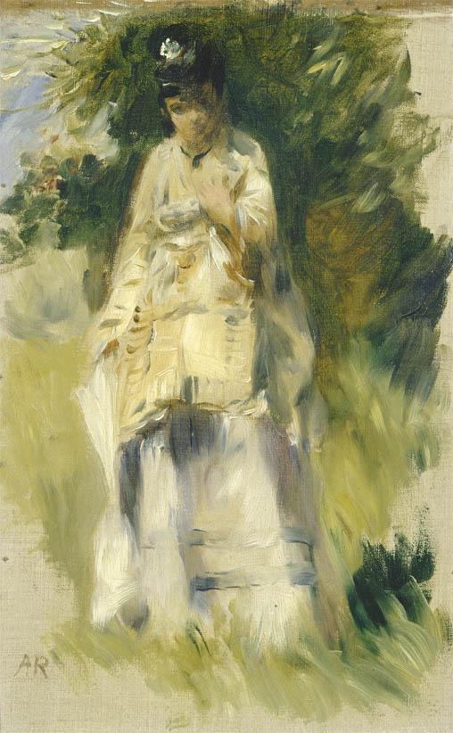 Femme debout près d'un arbre (1866)