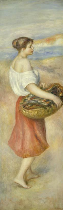 Fille avec un panier de poisson (c 1889)