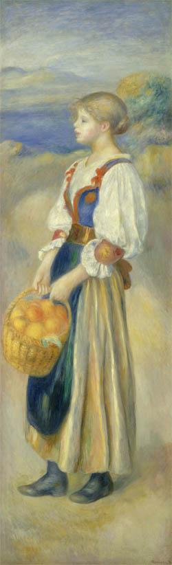 Fille avec un panier d'oranges (c 1889)