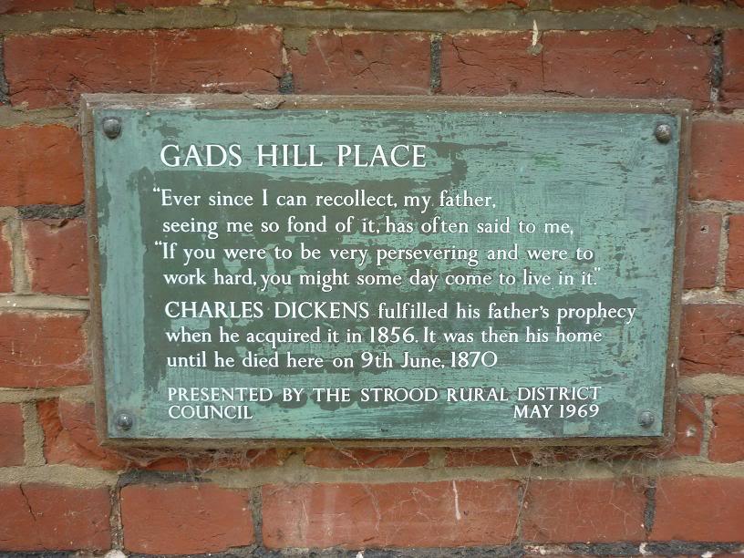 Gads Hill plaque