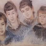 Jacques, Suzanne, Blanche et Germaine Hoschedé (c 1880)