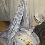 Jean Monet dans son berceau (1867)