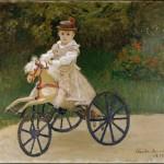 Jean Monet sur son cheval cheval de bois (1872)