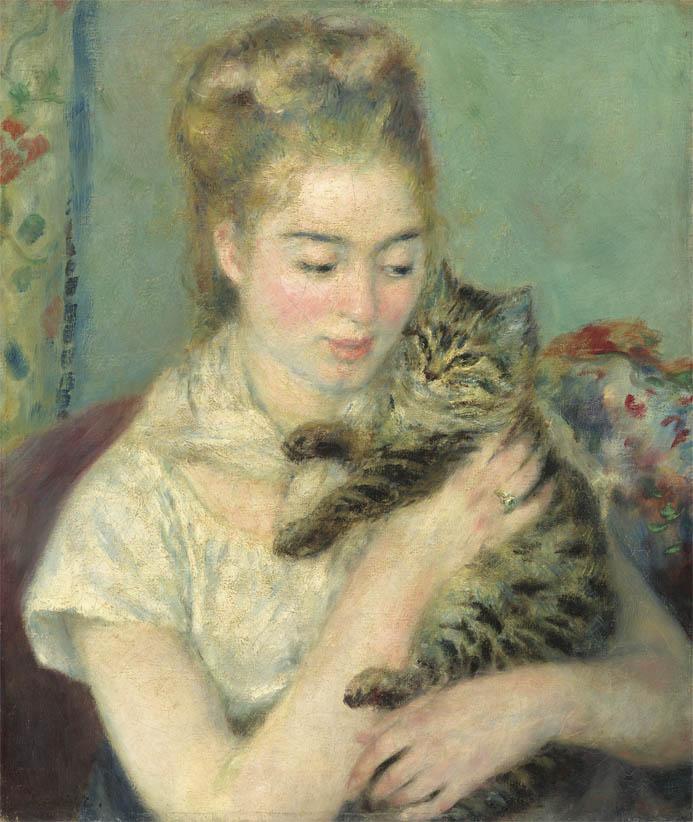Jeune femme au chat (c 1875)