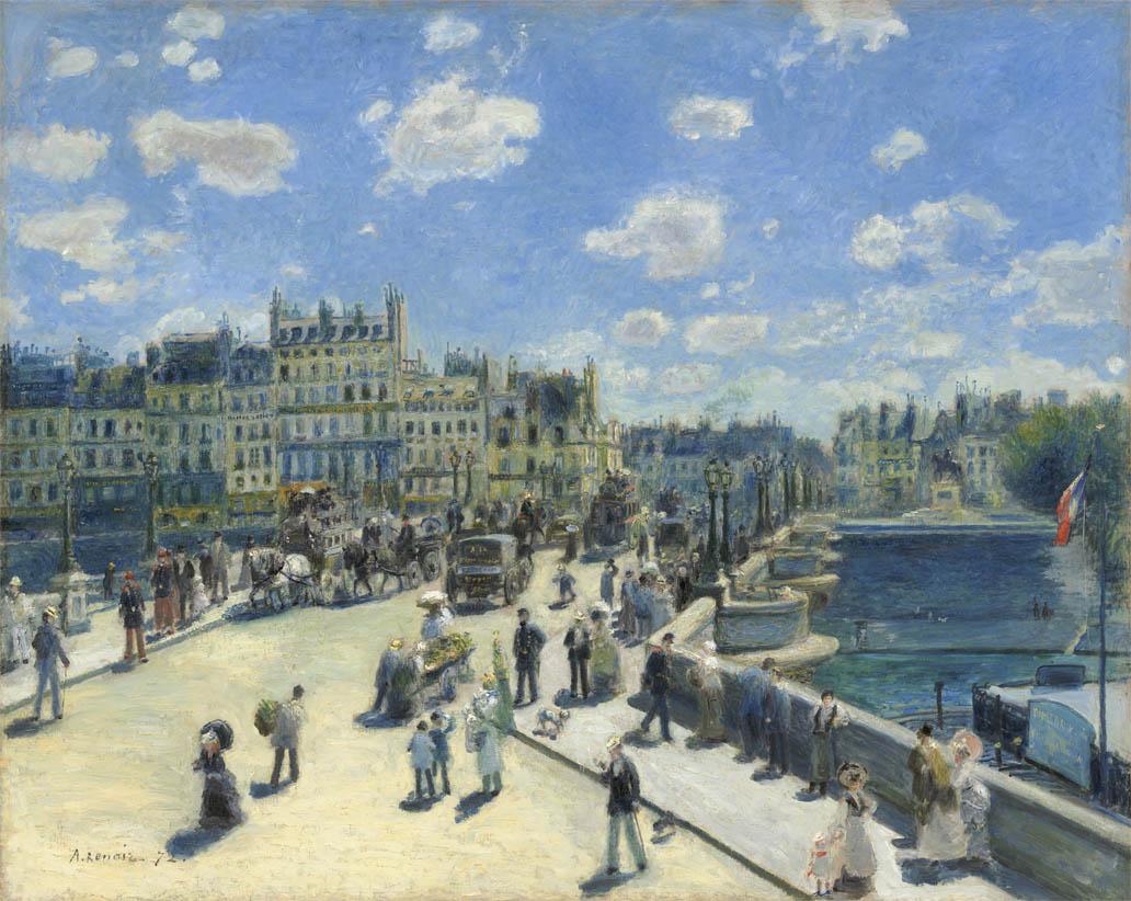 Le Pont Neuf à Paris (1872)