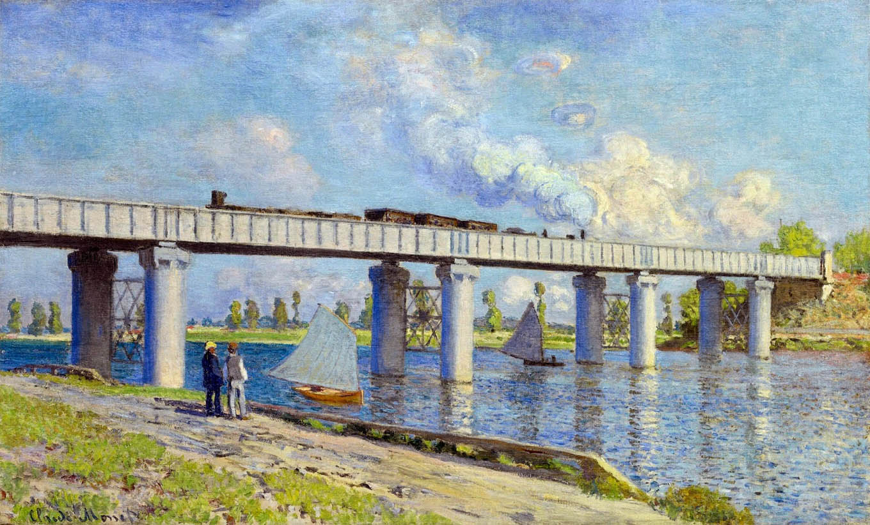 Le pont de chemin der fer à Argenteuil (1873)