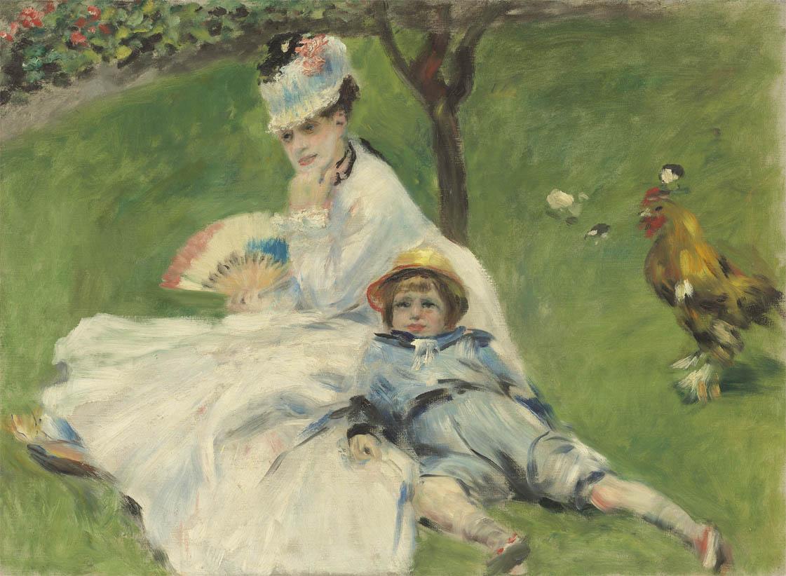 Madame Monet et son fils Jean (1874)